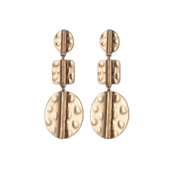 Tayla Brushed Metal Earrings - Gold