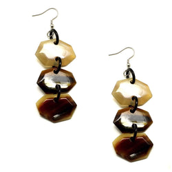 Tortoise Shell Horn Butterscotch Earrings - G x G Collective