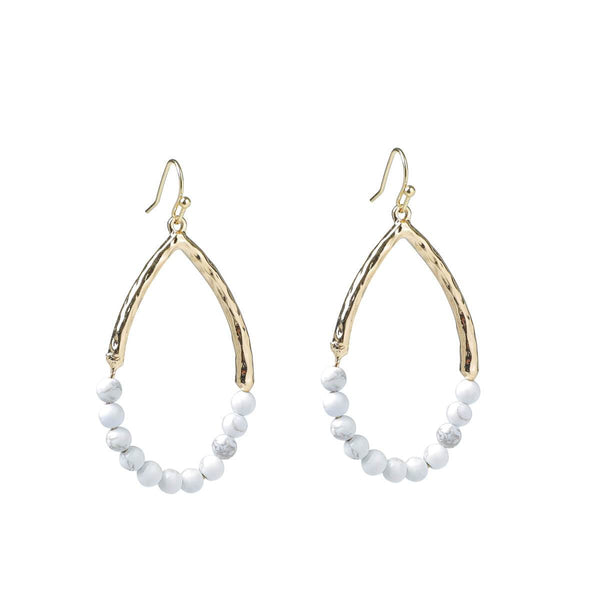Ursula White Howlite Earrings
