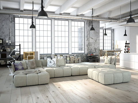 Loft apartment interior - industrial style