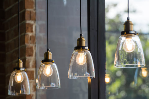 industrial style light fixtures-glass retro pendant
