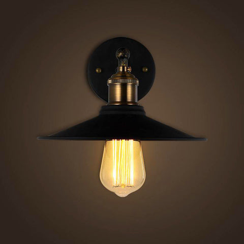 Steampunk industrial wall lights for sale usa rusty lamp creations black industrial wall sconce retro aloadofball Image collections