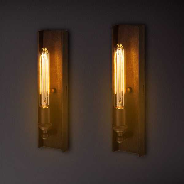 interior wall lighting fixtures. Long Edison Bulb Wall Light - Industrial Machine Age Interior Wall Lighting Fixtures