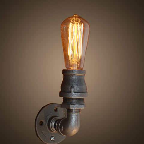 Steampunk industrial wall lights for sale usa rusty lamp creations industrial steampunk wall sconce aloadofball Images