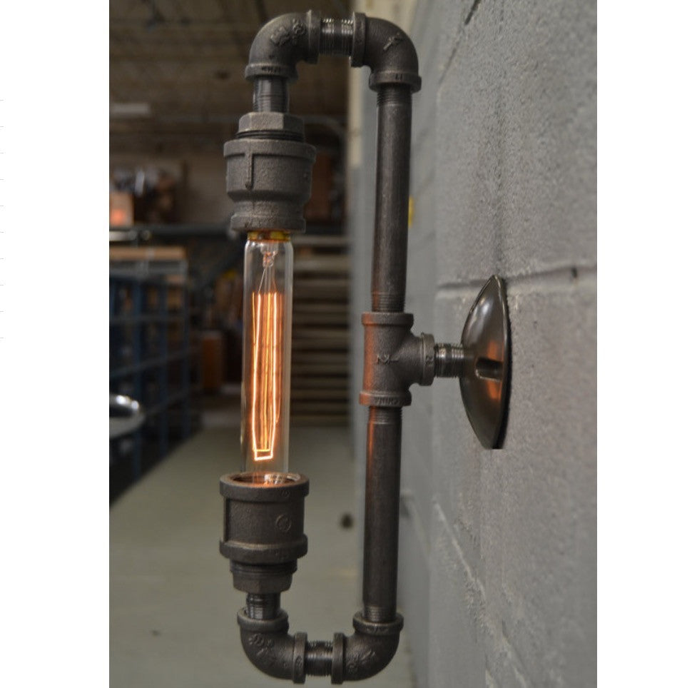 Steampunk Edison Wall Sconce Rusty Lamp Creations