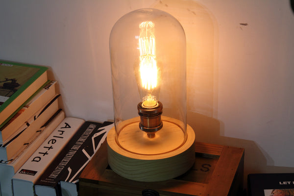 Edison Glass Dome Lamp Rusty Lamp Creations