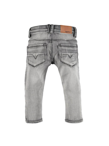 Pants for baby 20307271 light grey denim