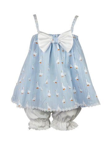 Baby-Lucky Duck blue hair ribbon