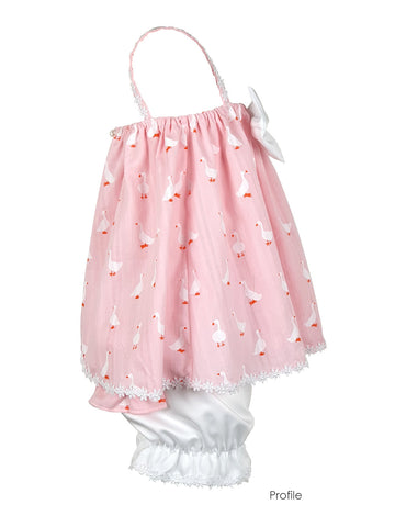 Baby Duck pink tunic & bloomers set 2pcs