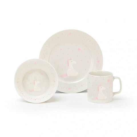 Bashful Unicorn Bowl,Cup & Plate