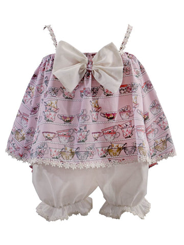 Alicia pink tunic & bloomers set 2pcs