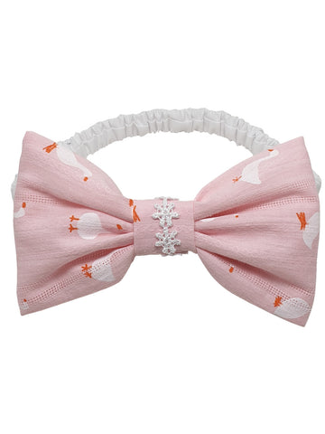 Baby-Lucky Duck pink hair ribbon