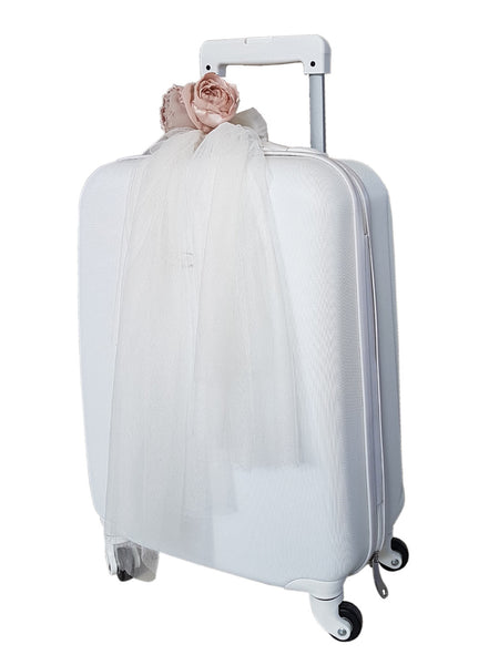 White Rolling Luggage
