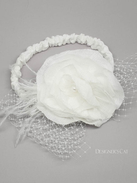 Regina ivory Hair ribbon