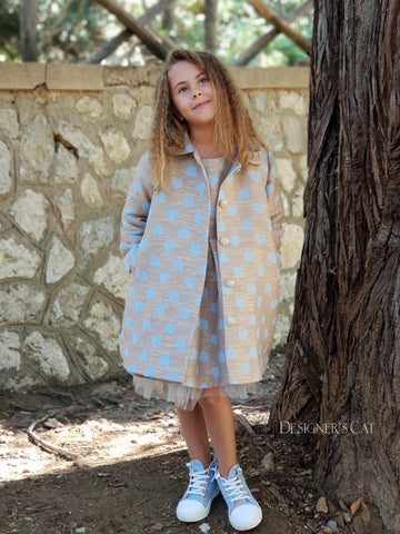 Santella coat light blue