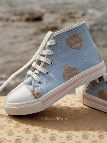 Santella Light blue shoes