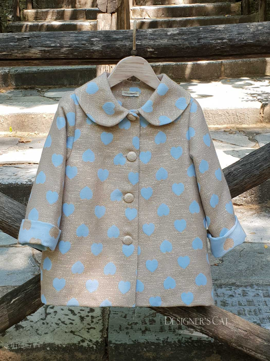 Santella coat light blue -30% off