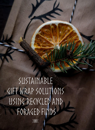 Sustainable Gift Wrap Solutions - Recycled and Foraged Finds