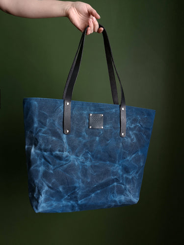 The Everyday Tote Canvas - Large - Blue
