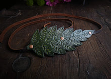 Load image into Gallery viewer, Leather Fern Headband