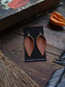 Leaf Earrings - Large - Cinnamon