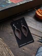 Load image into Gallery viewer, Leaf Earrings - Small - Brown