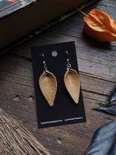 Load image into Gallery viewer, Leaf Earrings - Small - Mustard