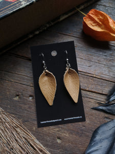 Leaf Earrings - Small - Mustard