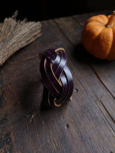 Load image into Gallery viewer, Double Strand Mystery Braid Cuff
