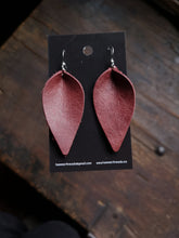 Load image into Gallery viewer, Leaf Earrings - Large - Wine