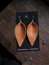 Load image into Gallery viewer, Pinched Leaf Earrings - Large - Copper