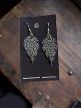 Load image into Gallery viewer, Leaf Earrings - Forest Green