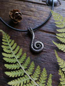 Fiddlehead Pendant or Keychain