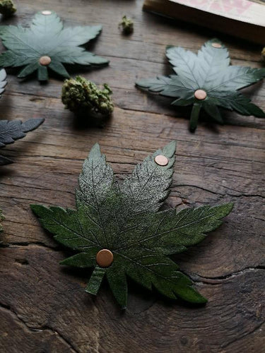 Cannabis Leaf Hair Clip