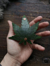 Load image into Gallery viewer, Cannabis Leaf Hair Clip