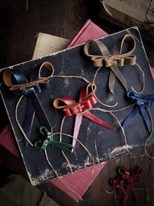 Recycled Leather Bows - Small