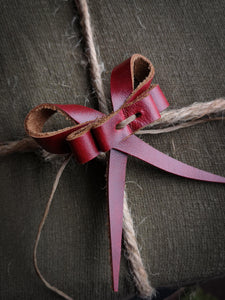 Recycled Leather Bows - Medium