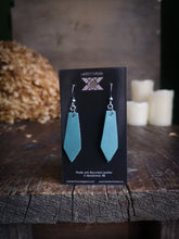 Load image into Gallery viewer, Geometric Earrings - Robins Egg - Hammerthreads