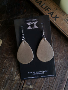 Teardop Earrings - Slate