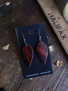 Leaf Earrings - Smolder - Hammerthreads