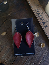 Load image into Gallery viewer, Leaf Earrings - Ruby