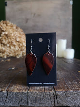Load image into Gallery viewer, Leaf Earrings - Smolder - Hammerthreads