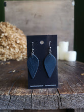 Load image into Gallery viewer, Leaf Earrings - Azurite - Hammerthreads