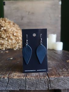Leaf Earrings - Azurite - Hammerthreads