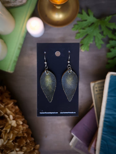 Leaf Earrings - Malachite - Hammerthreads