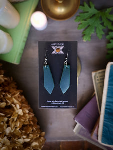 Geometric Earrings - Emerald - Hammerthreads