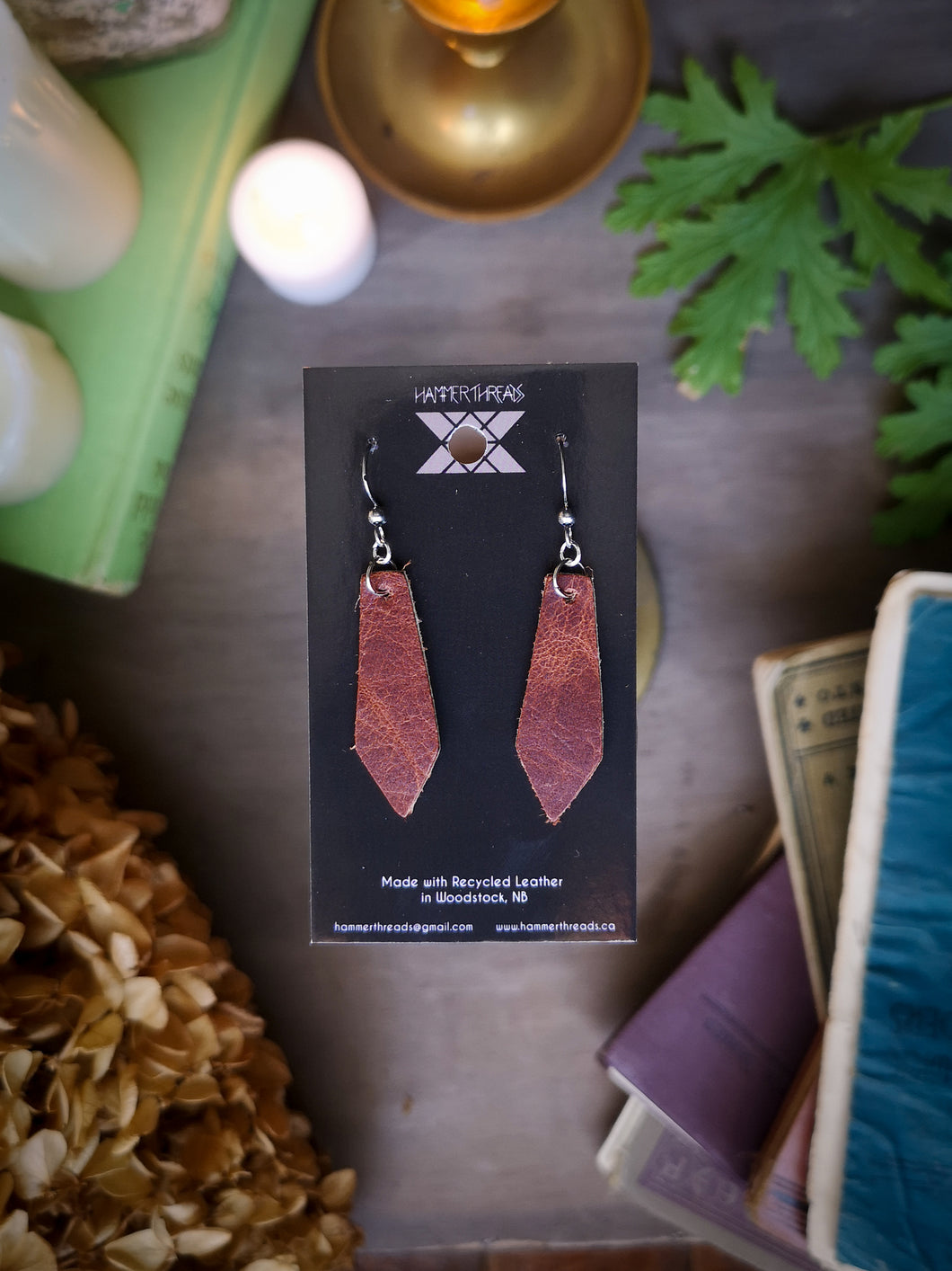 Geometric Earrings - Brick