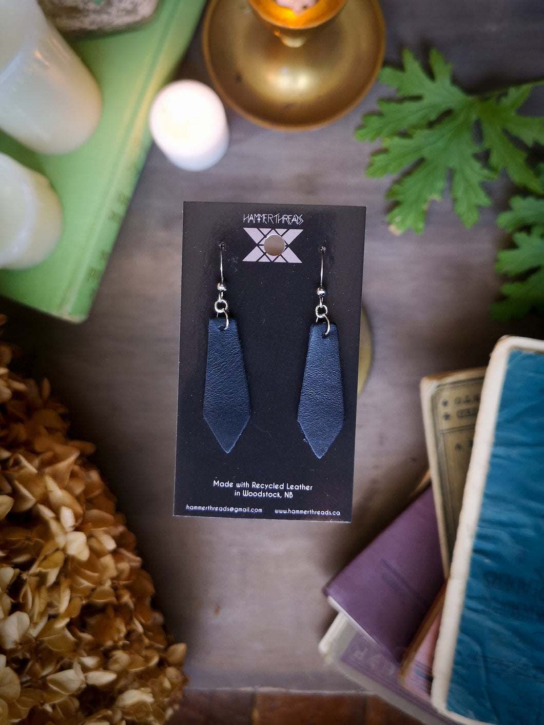 Geometric Earrings - Jet