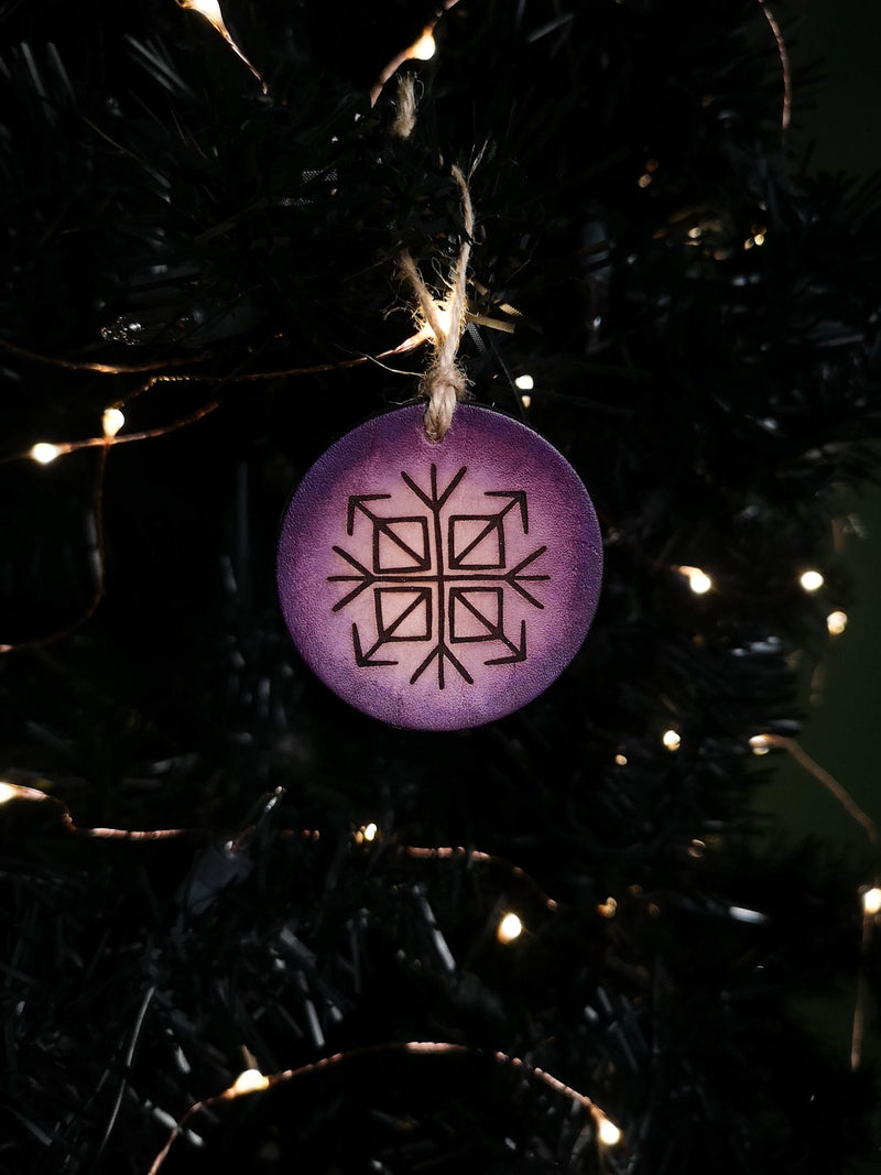 Runic Leather Ornament - Hammerthreads