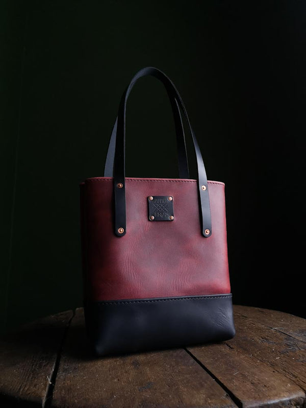 Classic Tote Mini - Pomegranate and Midnight